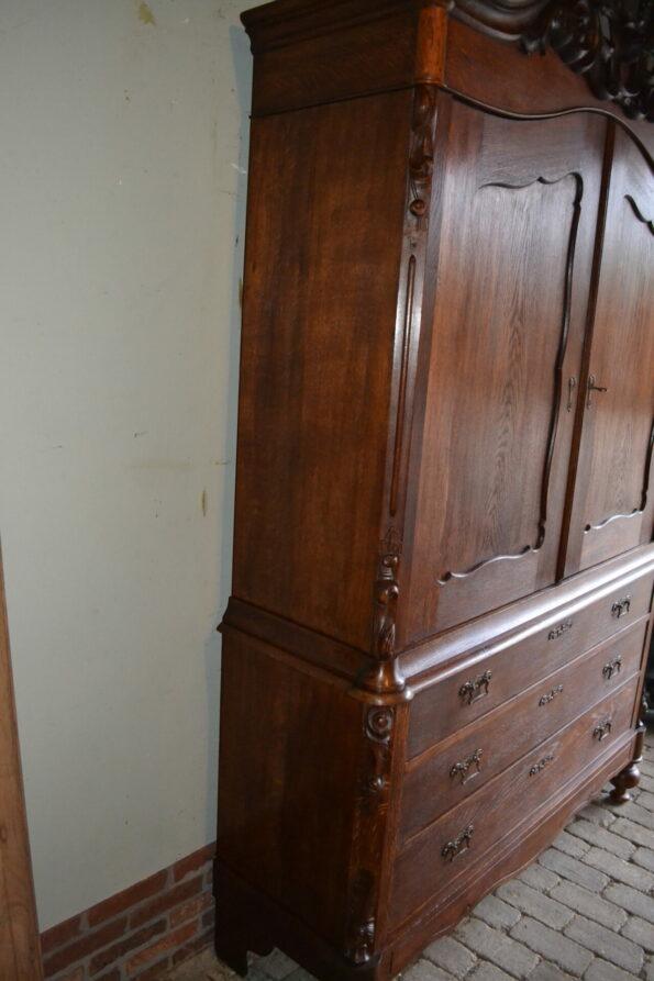 antiek kabinet, antieke ladekast, antieke ladenkast, antieke kuifkast