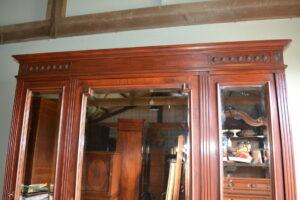 antieke kledingkast, antieke linnenkast, antieke spiegelkast, antieke garderobekast