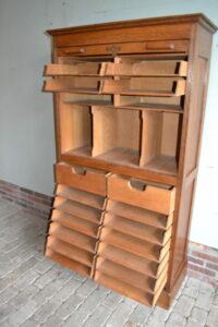 antieke dossierkast, antieke notariskast, antieke rolluikkast, antieke archiefkast