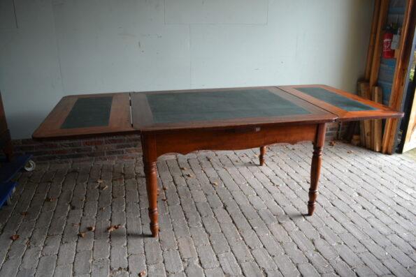 antieke eetafel, antiek bureau, antiek buro, antieke schrijftafel
