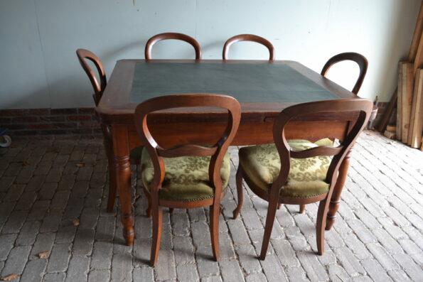 antieke eettafel, antieke eethoek, antieke vergadertafel, antiek bureau, antiek buro, antieke schrijftafel