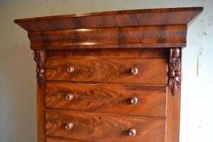 antiek mahonie chiffoniere, ladekast, ladenkast